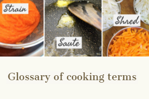 Image of glossary of cooking terms