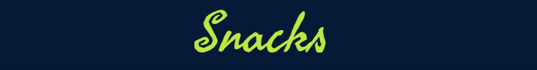 Snacks banner