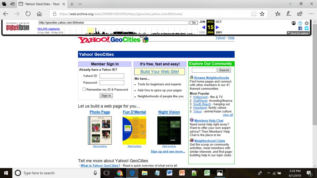 geo cities website Screenshot