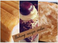 Baking recipe Index