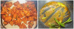 Chicken 65 preparation steps 5&6