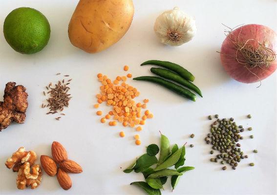 Common ingredient names in English,Tamil,Malayalam,Kannada & Telugu