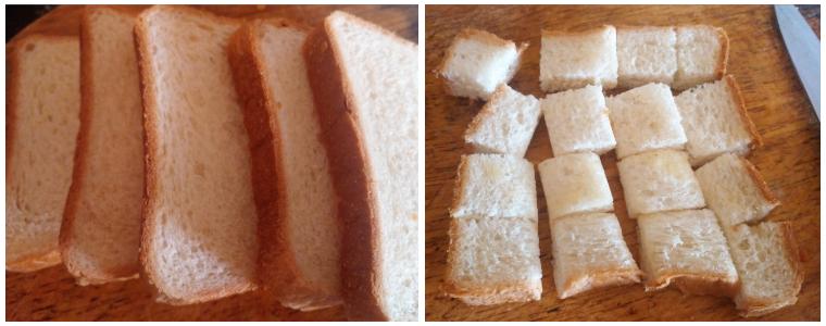 bread croutons prep steps 1&2
