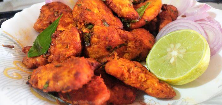 Chicken 65 Recipe Air Fried Chicken 65 Easy And Quick Chicken 65