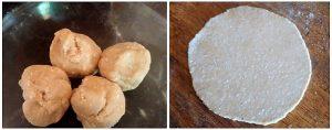 Pol roti preparation steps 7&8