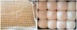 Eggless dinner roll preparation steps 13&14