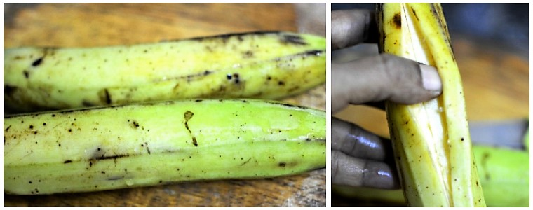 Banana chips preparation steps 1&2