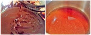 Chocolate syrup preparation steps 3&4