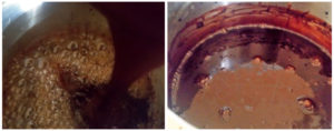 Chocolate syrup preparation steps 5&6