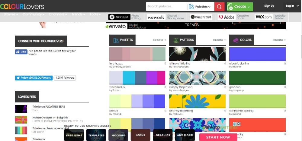 image of colourlovers website