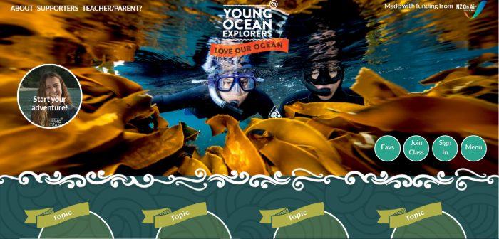 young ocean explorers website image