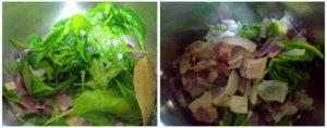 Corn Palak soup preparation steps 3&4
