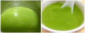 Corn palak soup preparation steps 7&8