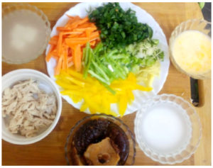 Hot and sour chicken soup preparation steps 3
