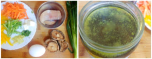 Hot and sour chicken soup preparation steps1&2