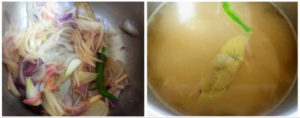 Borscht preparation steps 3 & 4
