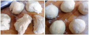 Wholewheat pita preparation steps 8&9