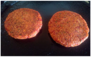 Veggie burger patty prep steps 9