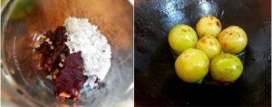 Nellikai pickle prep step 3
